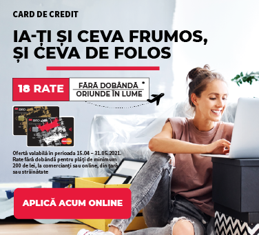 Card de credit 18 rate aprilie