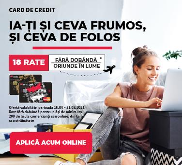 Card de credit 18 rate aprilie