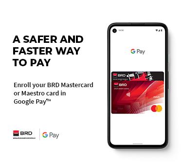 Google Pay at BRD