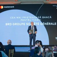 BRD, din nou cea mai bună bancă pentru tineri la Mastercard Bank of the Year awards