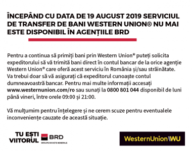 Transferuri prin Western Union - Slider Desktop RO