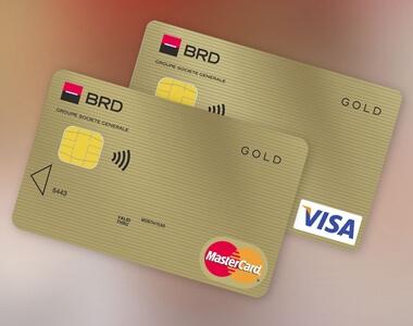 Cardul Gold MasterCard/Visa - Slider RO